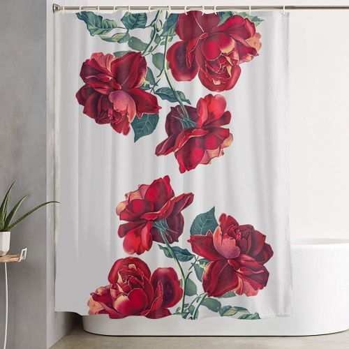 Red Roses Shower Curtain - Custom Art your life